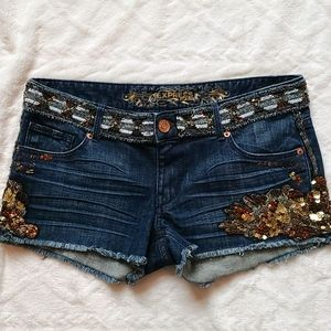 Express Jean Shorts with Embellishments Size 4